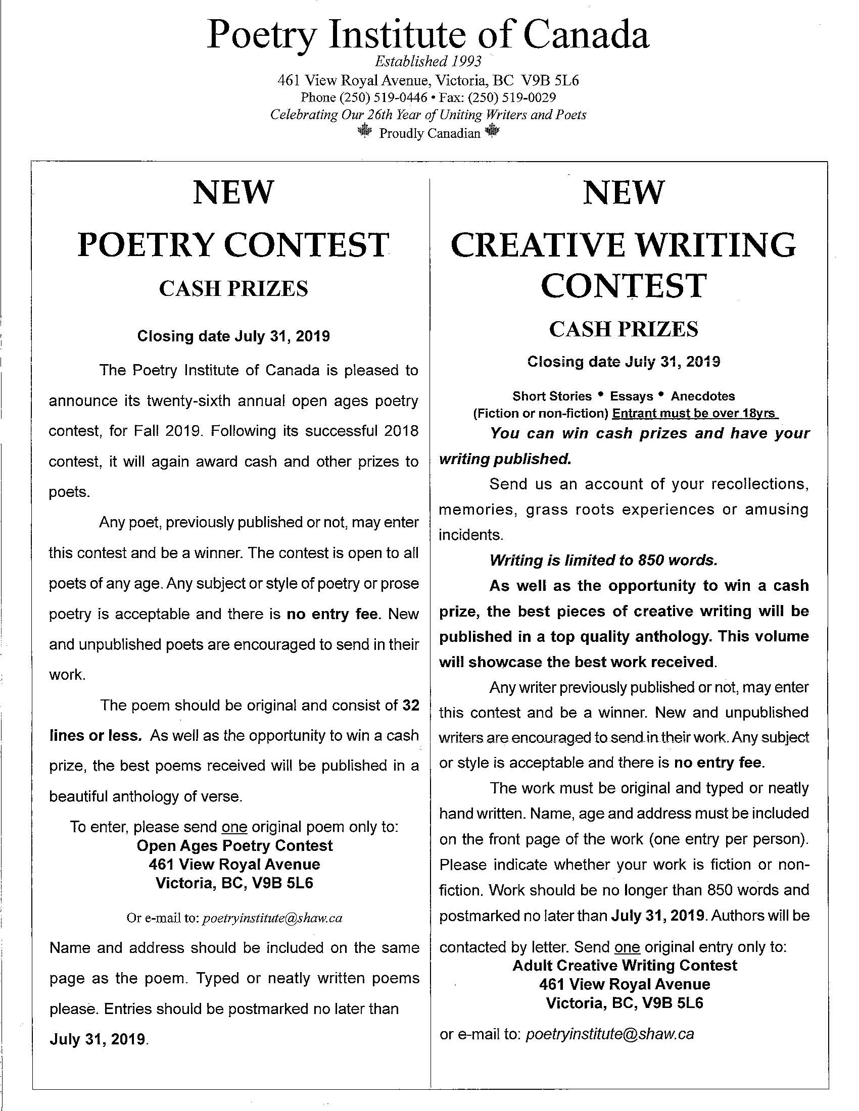 National Writing Contest Open for Submissions   Wawatay News
